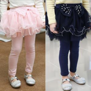China Cotton Children Girl Skirt Pants Leggings (6-15 year children clothes) on sale