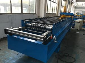 China 7.5kw Corrugated Sheet Metal Roll Forming Machine With Electrical Decoiler on sale