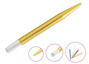 China Microblading Permanent Makeup Eyebrow Tattoo Light Yellow Manual Permanent Tattoo Pen on sale