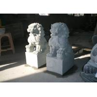 China Natural  Stone Garden Sculptures Stone Lion Garden Ornaments Custom Hand Carved on sale