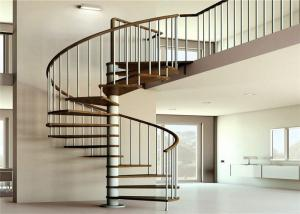China Apartment Interior Wrought Iron Spiral Staircase House / Office Application on sale