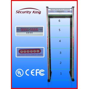 China Double Infrared Waterproof Metal Detector Gate , 6 Zones Metal Detectors at Airports on sale