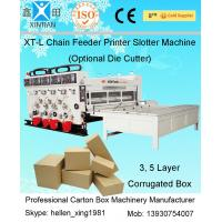 Auto Carton Packing Chain Feeding Flexo Printing Machine 7.2mm Thickness