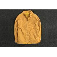 Classic Durable Yellow Polyester Coat Jacket Oversize / Men