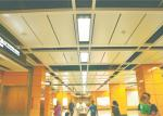 el tablero interior del tejado perforó el techo incombustible, techo suspendido del metal del aluminio