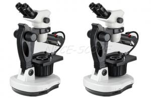 China 0.67X - 4.5X Fluorescent Zoom Gem Stereo Microscope With Digital Camera on sale
