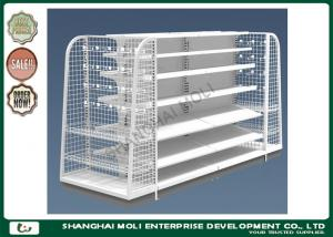 China Custom printed heavy duty supermarket display shelves , retail shelving displays supplier