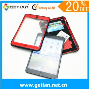 China Red Ipad Mini Protective Case With Wallet , Dust Resistant on sale