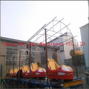 China kiddie car games outdoor funfair playground sliding dragon roller coaster rides without motor on sale