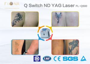 China 500W Power Q Switched ND YAG Laser Tattoo Machine Customized Color With Cooling System on sale