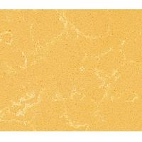 Spring Yellow Flat / Eased Edge Quartz Kitchen Countertops with CE , ISO Certificate