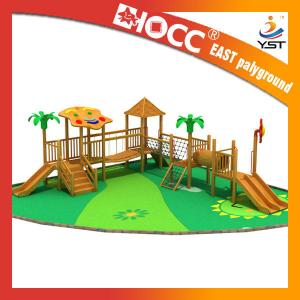 China Large Kids Wooden Outdoor Play Equipment 25 - 30 Persons Capacity Service on sale