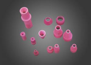 China Customized Alumina Ceramic sandblasting nozzles Air Cooled Tig Welding Pink on sale