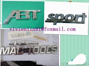 China Car sticker ,car badge ,chrome sticker, chrome label ,ABS car badge,soft PVC chrome label on sale
