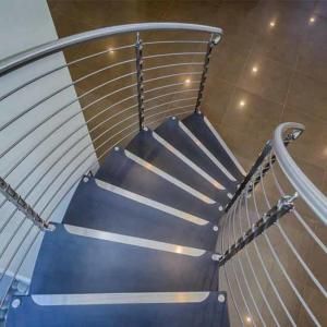China Top Grade Residential /Commercial Prefabricated curved stair for small house interior wooden step on sale