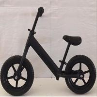 Balance bike with Aluminum alloy frame, Inflatable wheel,Black kids