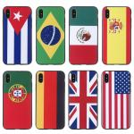 Top selling UK Germany USA Brazil Spain international flags pattern custom logo cell phone case for iphone 8