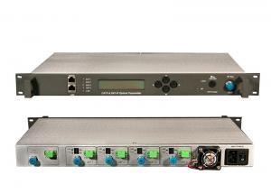 China DVB-S 1RU 19 Chassis Optical Fiber Transmitter Receiver CWDM C-Band ITU For TV on sale