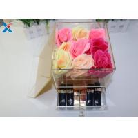 China 9 Holes Acrylic Flower Pot Chemical Stability , Small Acrylic Box A Class Acrylic Sheet on sale