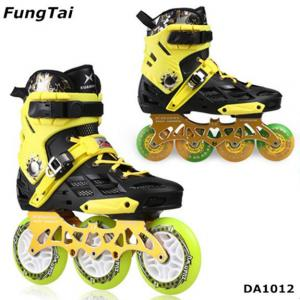 China Factory Wholesale Men Women Roller Inline Skate Shoe Speed Skates Shoes 2 in 1 Roller Blade Yellow White Blue Color Spor on sale