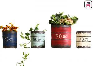 China Loft Style Restaurant Wall Decor Wall Mounted Flowerpot Rustic Paint Bucket Design on sale