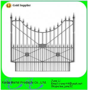 China wrought iron beautiful iron gate for home on sale