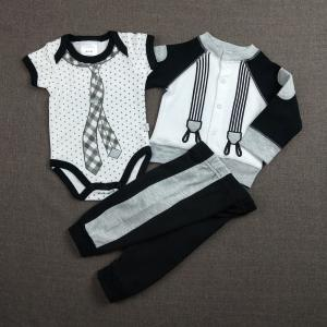 China Black 0 - 9M Cool Baby Boy Clothes Casual Style Knitted Type OEM Service on sale