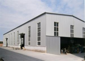 China Metal Outdoor Storage Buildings , Large Trussed Lightweight Steel Frame Building on sale