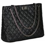 Shoulder Bags For Women's Tote Handbag,Chain Straps Handle,Pu Leather Small Capacity Fashion Diamond Pattern Totes Satch