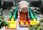Dinosaur Water Park Commercial Inflatable Slide With Pool 6 * 4.5 * 5m