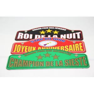 China Personalised Printed Decorative Metal Coasters For Sign Billboard on sale
