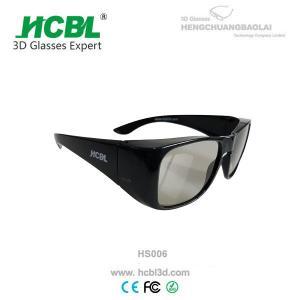 China 0.720mm Lens 3D Tvs Reald 3D Glasses Cinema Thick Frames Light on sale