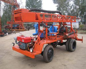 China 20kw 300m Tractor Mounted Water Well Drilling Rig Self Propelled on sale