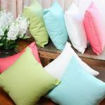 Sofa Solid color dyed cotton cushion,couch decorative knitted summer cooling cushion cover