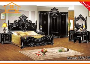 China discount online fitted fine contemporary walnut black buy antique black melamine arabic style bedroom furniture set on sale
