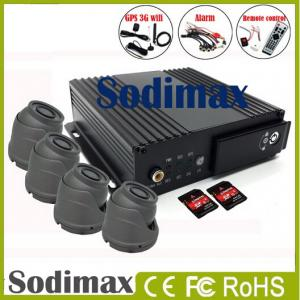 China 4CH SD card Mobile DVR 3G wifi GPS Mobile DVR G-sensor, DVR h.264 on sale
