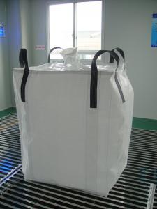 Quality Circular / Tubular 1 ton bulk bags , Type A square bottom Soybean peanut bag for sale