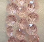 a grande venda por atacado de cristal redonda cor-de-rosa do botão de China perla a fábrica