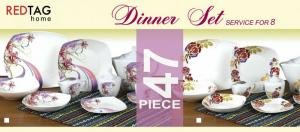 China 47pcs bone china dinner set on sale