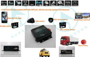 China 720P H.264 D1 Taxi / Car Mobile DVR 3G + Wifi + G-Sensor Aluminium CIF / 2CIF / D1 Resolution on sale