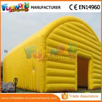 Yellow And Blue Tennis Field Inflatable Party Tent / Air Cover Inflatable Tennis Court Enclosure