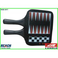 Promotional Square Wooden Paddle Ball Rackets / Beach Bat And Ball Set