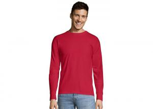 China Red Knitting Mens Casual T - Shirts traditional set - in sleeves O - Neck on sale