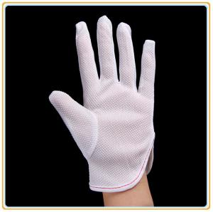 China Gants pointillés par PVC antistatiques de gants de polyester on sale