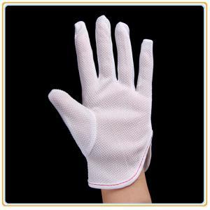 China Gants pointillés par PVC antistatiques de gants de polyester on sale