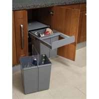 China El plástico saca el cubo de la basura de la cocina 40 litros con la diapositiva de alta calidad del rodamiento de bolitas on sale