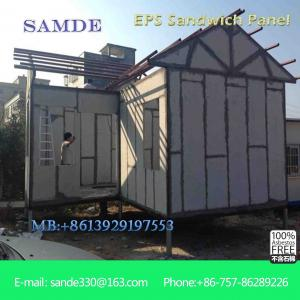 China Prefab house wall material eps sandwich wall panel system 2440*610*75mm on sale