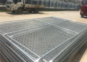 China Carbon Steel Pipe Temporary Chain Link Fence Metal Fence Panels 6'X9.5' 2⅜X2⅜ on sale