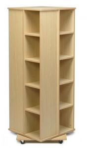 China 4 Sides Books Cabinet Home Display Rack MDF Spinner Storage W50 X D50 X H176cm on sale