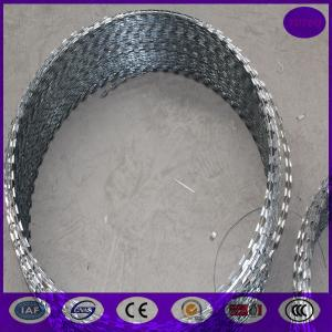 China 800mm 64 loops 10m concertina razor barbed wire on sale
